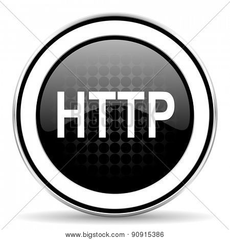 http icon, black chrome button