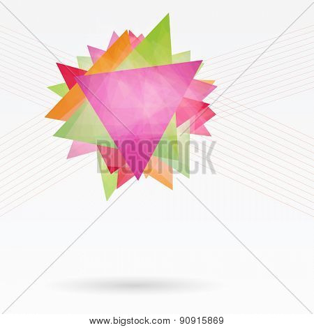 Abstract Background with Triangles and Lines. Annual Report Concept.