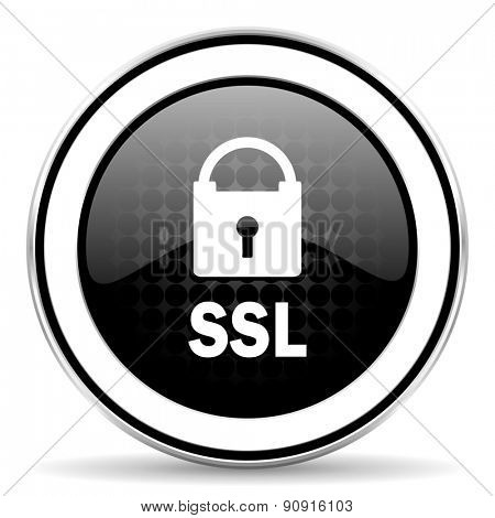 ssl icon, black chrome button