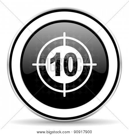 target icon, black chrome button