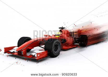 3D render of a generic F1 racing car with special effect added