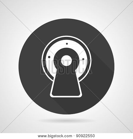 MRI black round vector icon