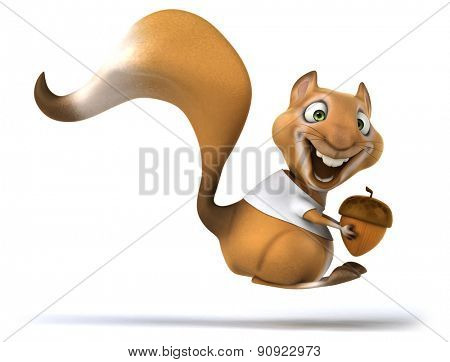 Squirrel with a white tshirt