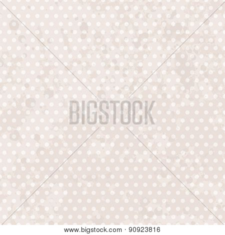 Vintage background with dots. Pastel seamless vintage pattern