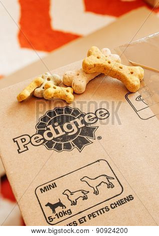 Pedigree Box With Dog Food On Top