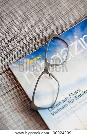 Luftansa Magazine In-flight Magazine Of Lufthansa Airlines