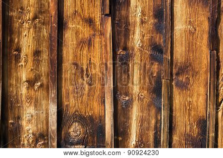 Exterior Wooden Rustic Wall Covered With Paneling