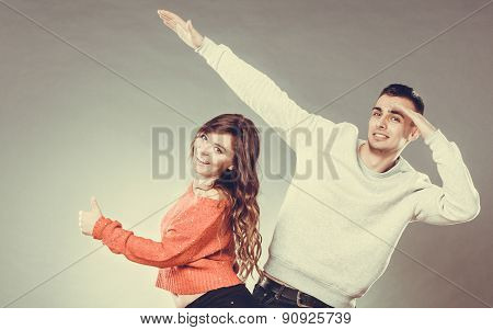 Smiling Young Couple Having Fun