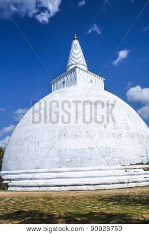 Mahatupa Or Ruwanweliseya Big Dagoba In Anuradhapura, Unesco, Sri Lanka, Asia