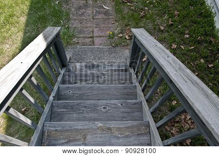 Steps in wood