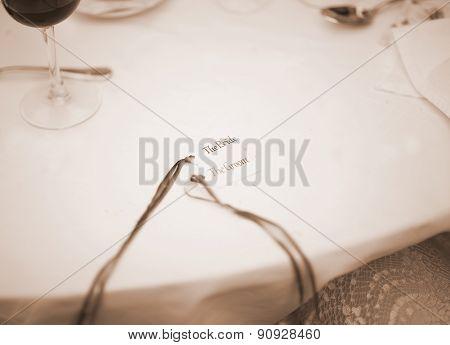 Wedding Table Nametag Bride And Groom Names