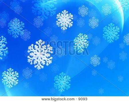 Caen copos de nieve