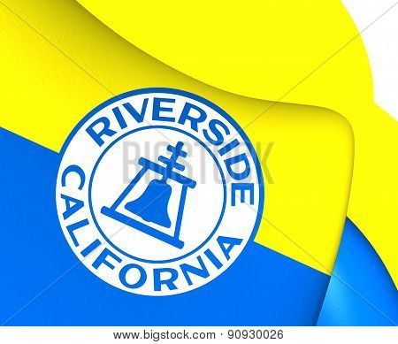 Flag Of Riverside, Usa.