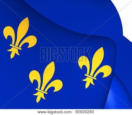 Flag Of Isle De France, France.
