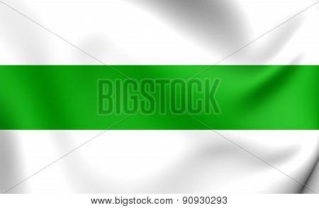 Flag Of Groningen City, Netherlands.