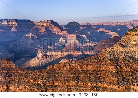 Spectacular Sunset At Grand Canyon In Arizona