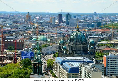 Aerial view of Berlin, Germany.