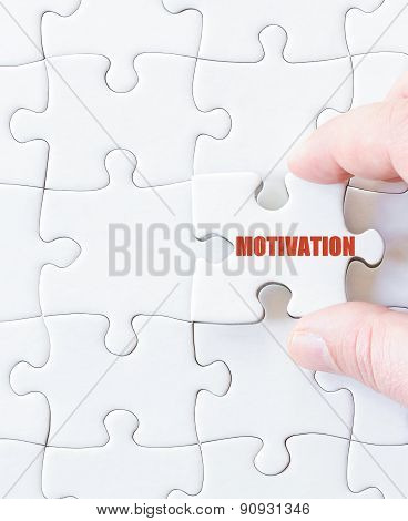 Missing Jigsaw Puzzle Piece With Word  Motivation