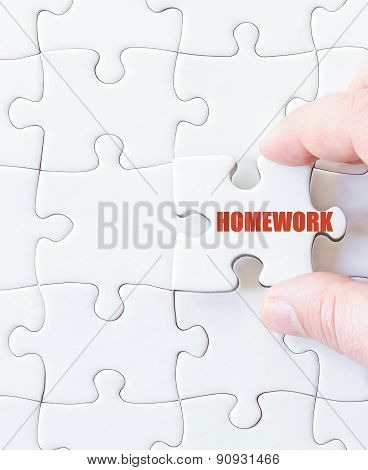Missing Jigsaw Puzzle Piece With Word  Homework