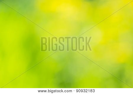 Abstract Background With Blurred Yellow And Green Spots