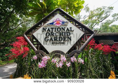 Singapore - AUGUST 2, 2014: Entrance to National Orchid Garden on August 2 in Singapore, Singapore. National Orchid Garden is a popular tourist attraction in Singapore