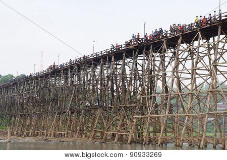 Mon Bridge In Sangklaburi