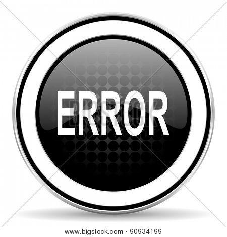 error icon, black chrome button