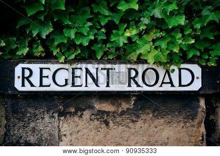 Regent Road sign in Edinburgh.
