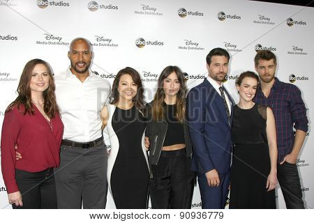LOS ANGELES - MAY 17: Marvel's cast members  at the ABC International Upfronts 2015 at the Disney Studios on May 17, 2015 in Burbank, CA