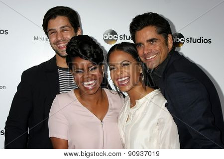 LOS ANGELES - MAY 17:  Josh Peck, Kelly Jenrette, Christina Milian, John Stamos at the ABC International Upfronts 2015 at the Disney Studios on May 17, 2015 in Burbank, CA