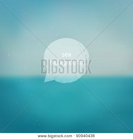 Turquoise Blurred Sea Background