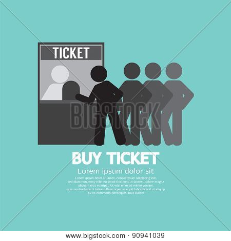People Buy Ticket At Service Booth.