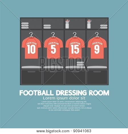 Football Or Soccer Dressing Room.