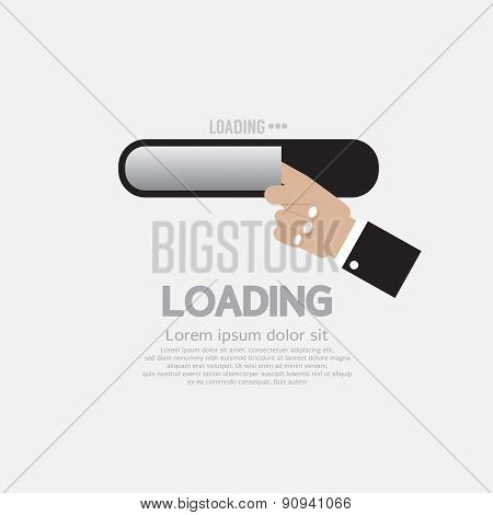 Hand With Loading Status.