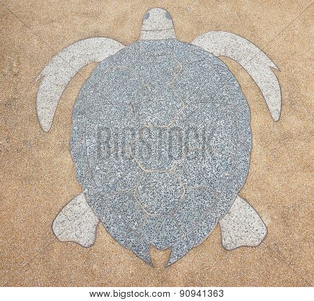 Terrazzo Floor, Patterned Snapping Turtle