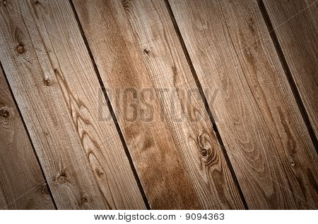 Dark Wood Fence Background