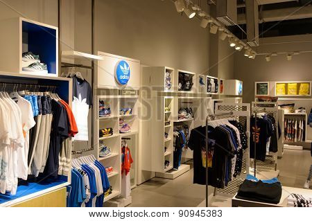 SHENZHEN, CHINA - MAY 17, 2015: shopping center interior. Shenzhen is a one of major city in the south of China, situated immediately north of Hong Kong Special Administrative Region.
