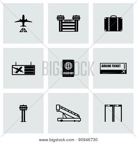 Vector Airport icon set