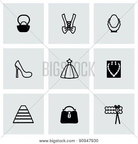 Vector Bride icon set
