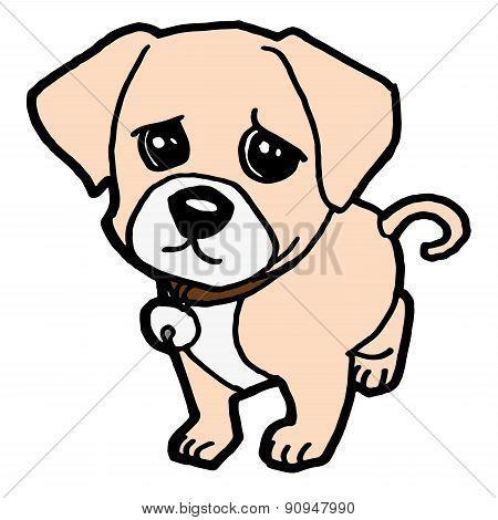 sad puppy vector
