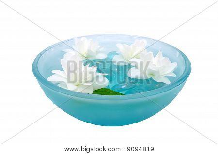 Jasmine Flowers in Bowl