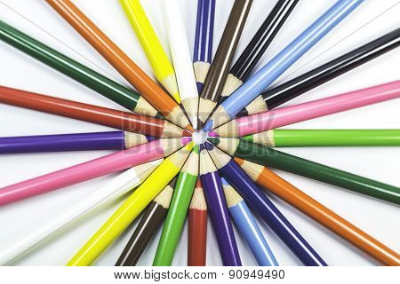 Wooden Pencils On White