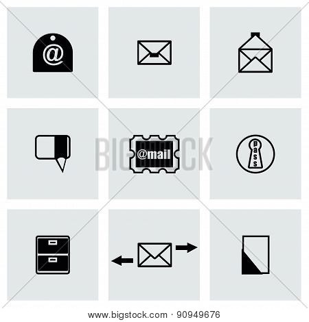 Vector email icon set