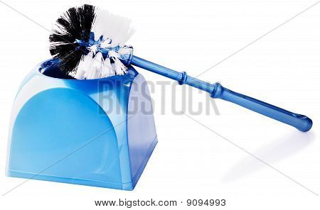 Toilet Brush Over White