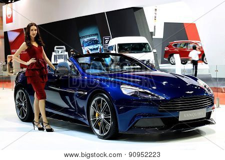 Unidentified Model With Blue Aston Martin Series Vanquish