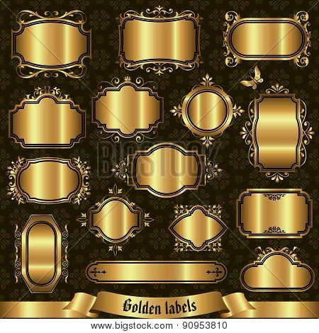 Golden Labels - Vector Set.eps