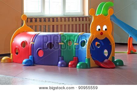 Plastic Tunnel For Children's Play In Nursery