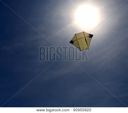 Kite For Meteorological Use Up Near The Sun