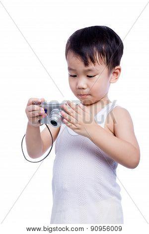Little Boy  Interesting Digital Compact Photo Camera