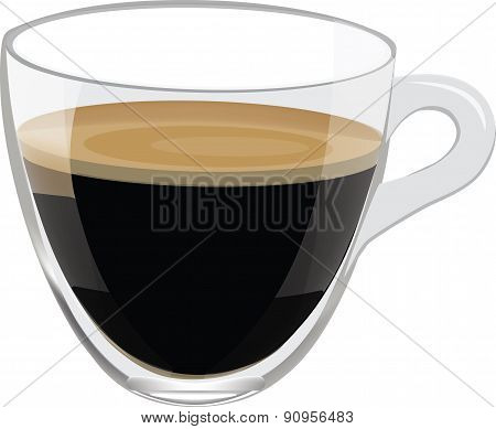 Drink in glass cup